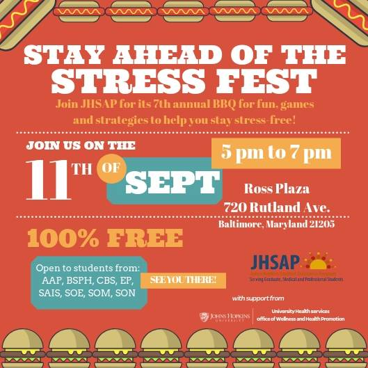 Flyer for Stay Ahead of the Stress Fest
