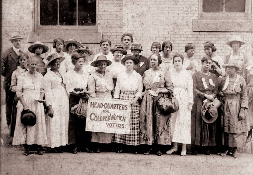 Historic photo of African-American women suffragists