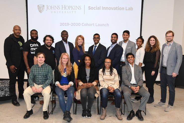 Group shot of 2019-2020 Social Innovation Cohort