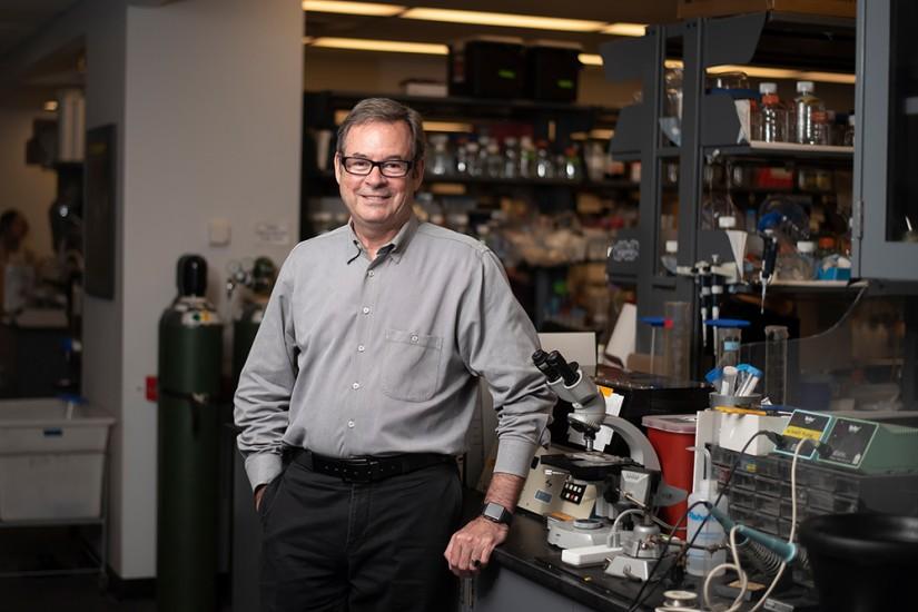 Richard Huganir in the lab