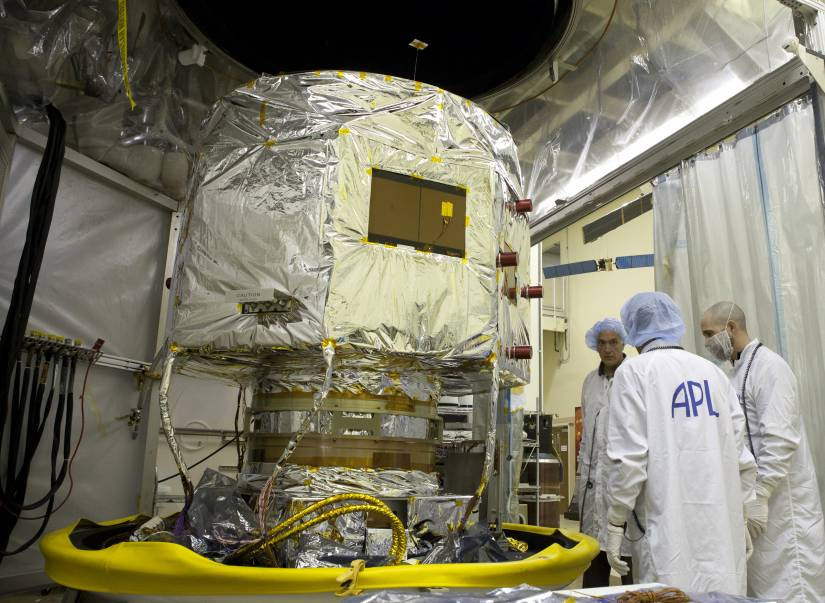 A probe in a testing chamber