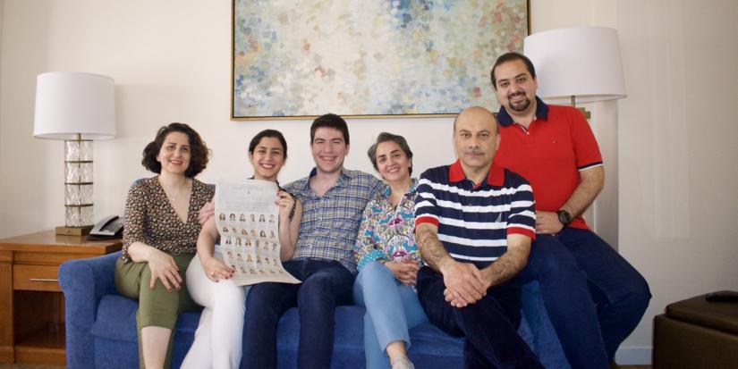 Alaleh Azhir with her family