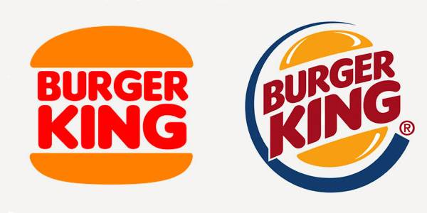 Comparison of symmetrical and asymmetrical Burger King logos