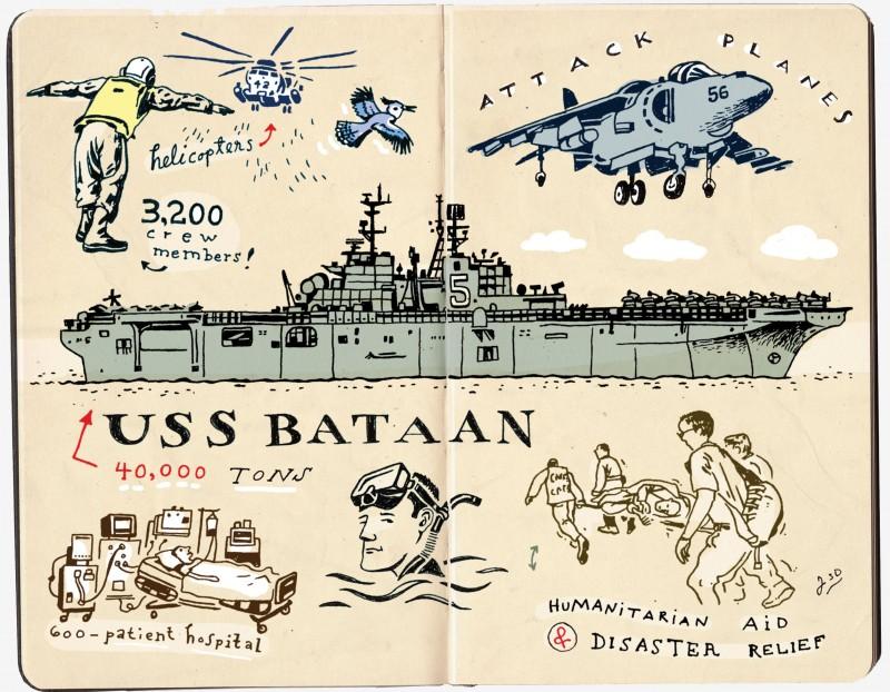 Illustration of USS Bataan