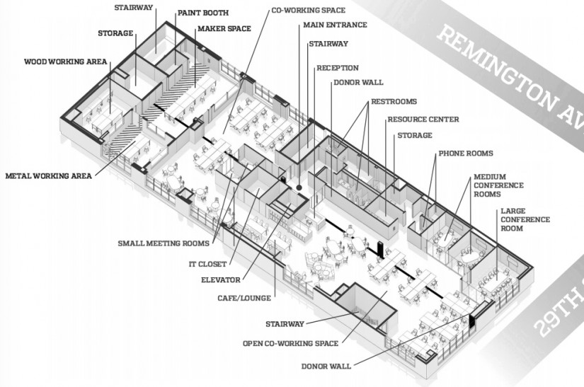 Prospective floor plan of FastForward U