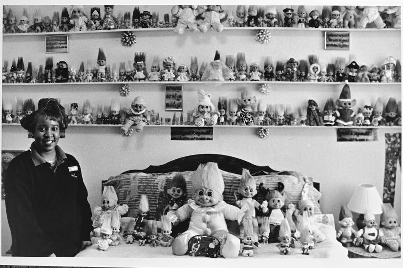 Montoya Jackson with her Treasure Troll doll collection