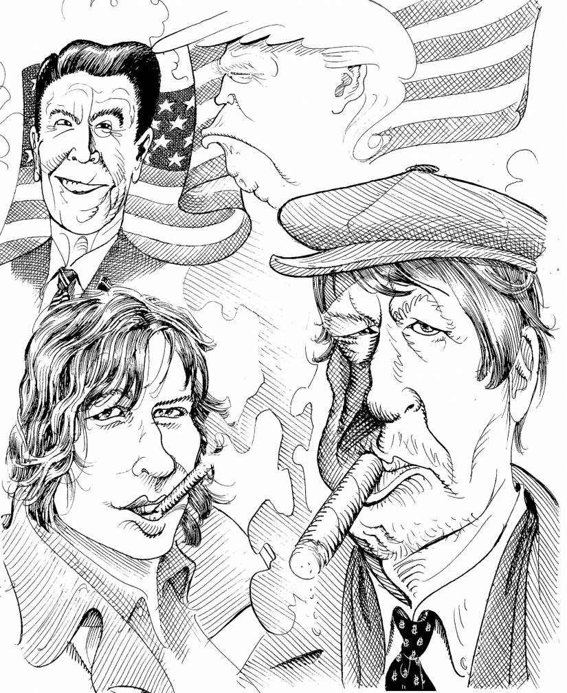 Illustration of P.J. O'Rourke