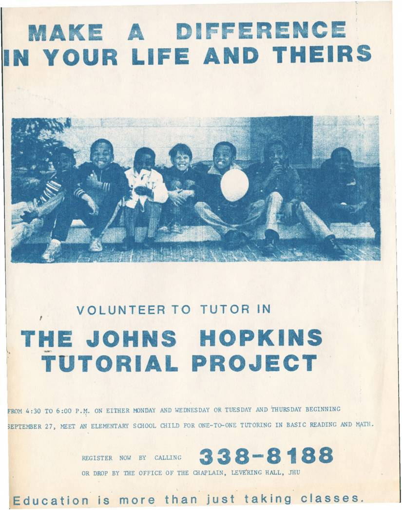 Poster advertising the Tutorial Project