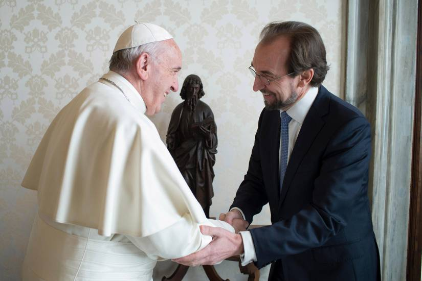 Al Hussein meets with Pope Francis