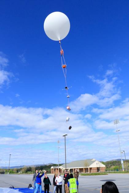 Test flight of a Hopkins payload using a University of Maryland Balloon