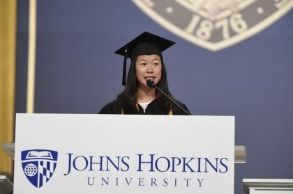 Senior class president Amy Sun