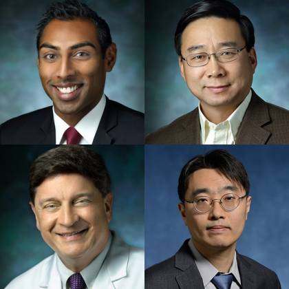 Composite image of four men
