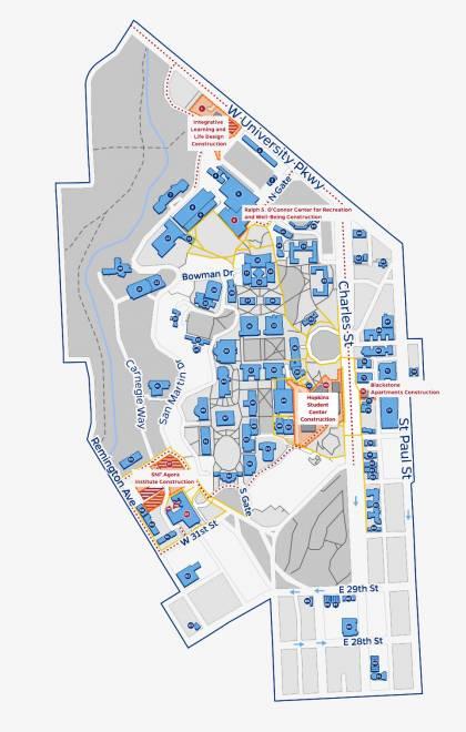 Homewood campus construction map