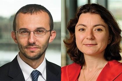 Mario Macis (left) and Emilia Simeonova