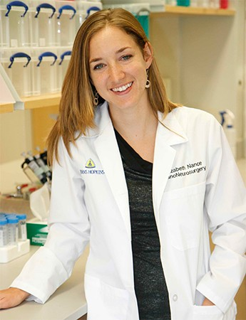 Johns Hopkins postdoc Elizabeth Nance