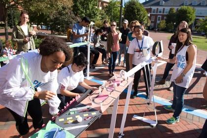 Student-built ramp for Ping-Pong ball challenge