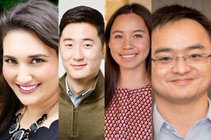 JHU alumni named to Forbes list include Elizabeth Galbut, Luke Lee, Leah Sibener, and Liang Wu