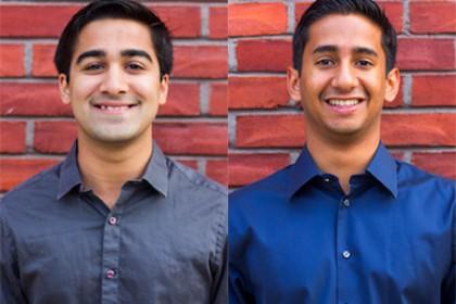 Param Shah (left) and Alex Mathews