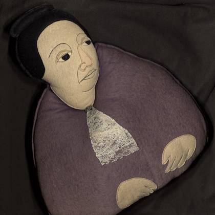 Pillow resembles Gertrude Stein