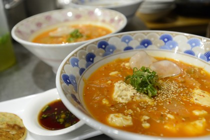 Bowls of Korean stew