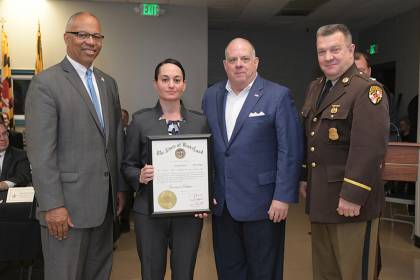 Hyatt awarded a Governor's Citation for her dedication to Baltimore