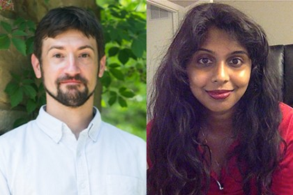 Chris Kelley is pictured left and Ramya Ambikapathi is pictured right