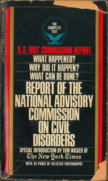 Cover of Kerner Commission report