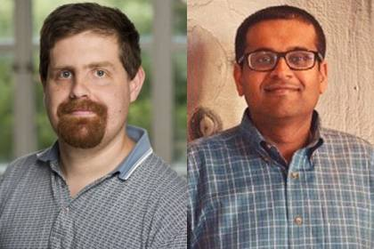 Tyrel McQueen (left) and Surjeet Rajendran