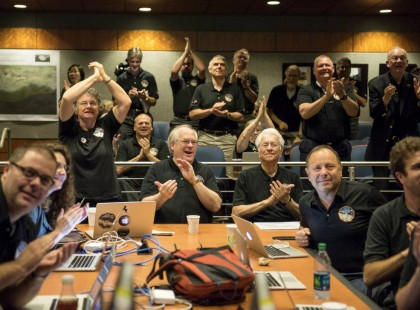 New Horizons science team celebrates