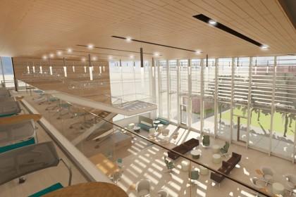 Nursing expansion, interior view, second level (conceptual)