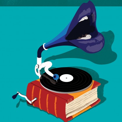 Illustration of a talking phonograph