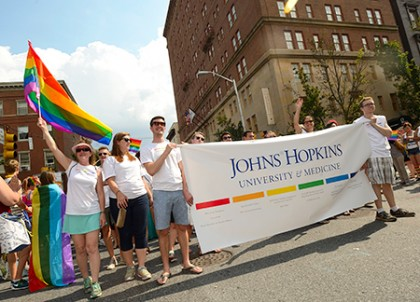 JHU's participants in Baltimore's Gay Pride parade
