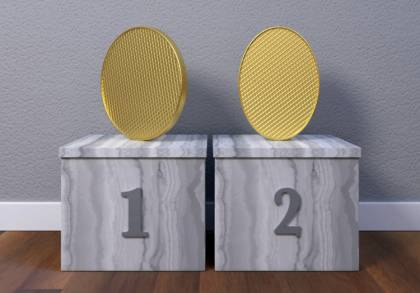 Researchers asked participants to determine the difference between an oval coin and a round coin positioned at an angle.