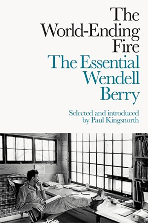 Book cover features the title and a photo of Berry lounging in a chair at a desk