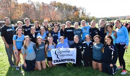 Team photo of JHU women's cross country team