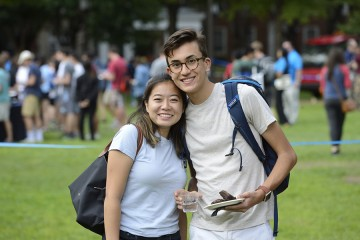Two students at the Baltimore Day picnic