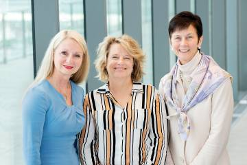 Andrea Weiss, Lynn Hackney, and Karen Peetz