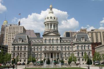 Exterior of Baltimore City Hall