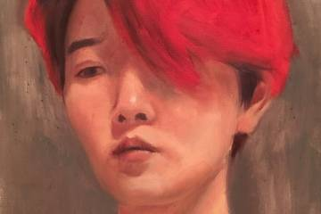 Detail from a self-portrait by Victoria Yeh