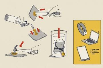 Illustration of battery material being tested for durability