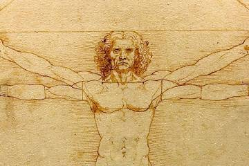 Detail from Leonardo da Vinci's