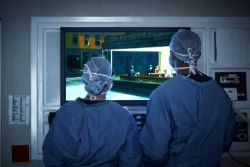 Doctors look at Edward Hopper's