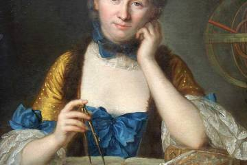 Painting of Emilie Chatelet
