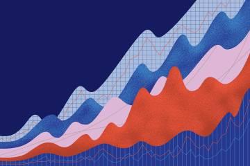 Graph of increasing data