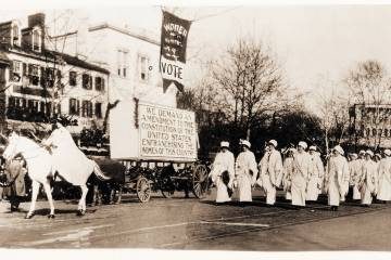 Photo of women marching