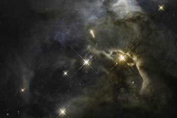 Hubble image of distant Serpens Nebula
