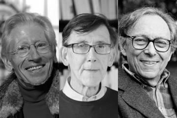 Composite image of Marcel Detienne, Michel Jeanneret, and Jean Starobinski