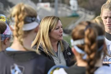Hopkins women's lacrosse coach Janine Tucker