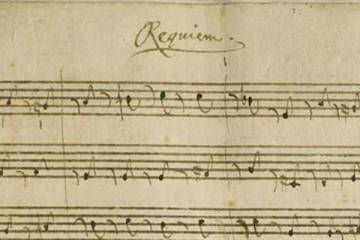 Mozart's requiem sheet music