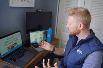 Matthew Golden presents during a Zoom meeting